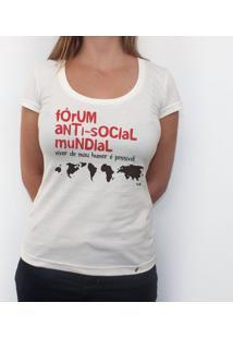 Fórum Anti-Social - Camiseta Clássica Feminina