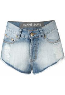 Amapô Short Jeans Micro Marcinha - Azul
