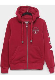 Jaqueta Infantil Red Nose Moletom Capuz Masculina - Masculino-Vermelho