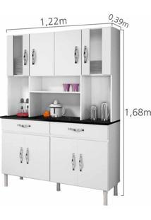 Armário De Cozinha 8 Portas 2 Gavetas Ventura Chf Branco