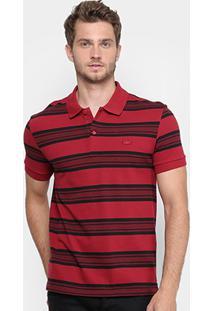 Camisa Polo Lacoste Piquet Regular Fit Listras Masculina - Masculino -Vermelho d788cad008