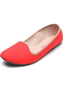 Slipper Moleca Color Vermelha