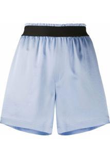 Filippa K Soft Sport Bermuda Esportiva K Soft Sport De Cetim - Azul