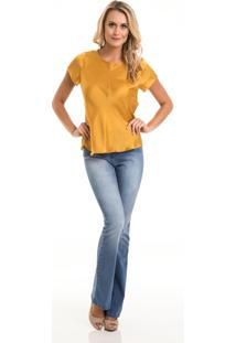 Camiseta Angel Manga Curta Dourado