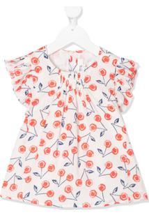 Bonpoint Blusa Com Estampa Floral Branca - Branco