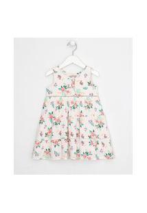 Vestido Infantil Floral Recorte Maria - Tam 1 A 5 Anos | Póim (1 A 5 Anos) | Branco | 03