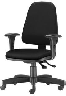 Cadeira Sky Presidente Com Bracos Assento Courino Preto Base Nylon Arcada - 54809 - Sun House