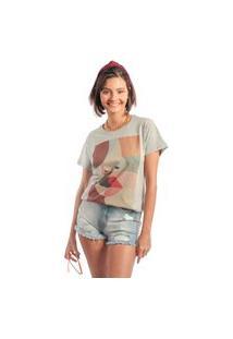 Camiseta Feminina Mirat Faces Mescla