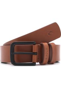 Cinto Couro Rip Curl Cut Down Bege