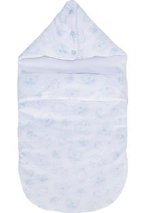 Kenzo Kids Cobertor Com Logo Estampado - Branco