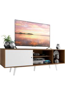 Rack Madesa Dubai Para Tv Até 65 Polegadas Com Pés - Rustic/Branco/Branco Marrom