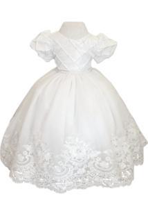 Vestido Liminha Doce De Daminha Branco - Infantil - Kanui