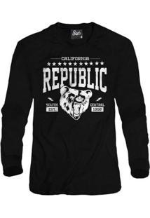 Casaco Moletom Skull Clothing Cali Republic Masculino - Masculino