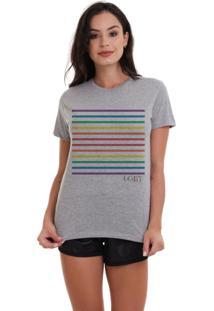 Camiseta Basica Joss Lgbt Listras Mescla