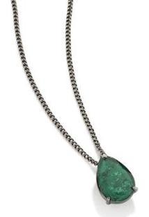 Gargantilha Bijoulux Cristal Fio Grumet Rommanel - Feminino-Verde