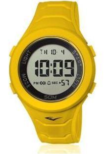 Relógio Everlast Digital Unissex Cx E Pulseira Silicone - Unissex-Amarelo