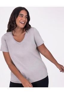 Camiseta Babylook Gola V Super - Feminino