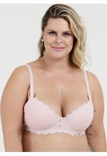 0294c0cf3 Sutiã Feminino Com Base Renda Flocado Plus Size Marisa