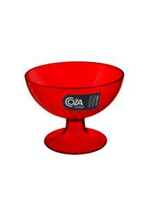 Taça De Sobremesa Cozy 10,5 X 10,5 X 8 Cm 150 Ml Vermelho Transparente Coza