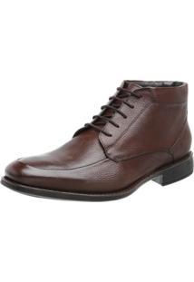 Sapato Abotinado Conforto Walk Way Maranelo 14002 Cafe