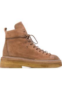 Marsèll Ankle Boot Com Cadarço - Marrom