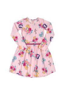 Vestido Manga Longa Em Cotton Quimby Rosa
