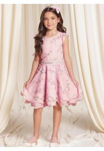 Vestido Tecido Ce Chiffon Rosa
