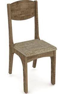 Cadeira Ca12 Tecido Chenille Marrom