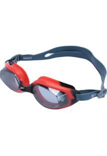 Óculos De Natação Speedo Smart - Adulto - Azul Esc/Vermelho