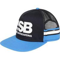 f64a5d84393fe Boné Nike Aba Reta Sb Cut Trucker Unissex - Unissex-Preto+Azul