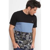 d8b146ef66b9b Camiseta Mcd Especial Core Tropical Bones Masculina - Masculino-Azul