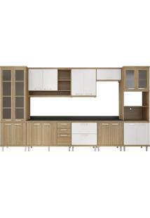 Cozinha Compacta Almafuerte 17 Pt 5 Gv Argila E Branco