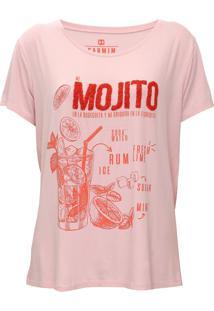 Camiseta Carmim Mojito Rosa/Laranja