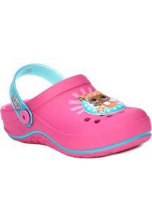 Chinelo Babuche Lol Surprise Infantil Para Menina - Rosa/Azul