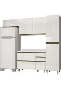 Cozinha Completa 100% Mdf Vestone K109 Off White