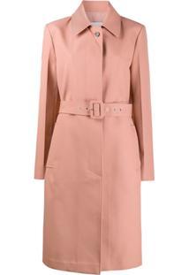 Jil Sander Trench Coat Com Cinto - Rosa