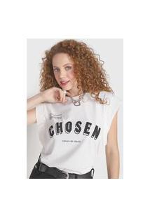 Camiseta Colcci Chosen Off-White