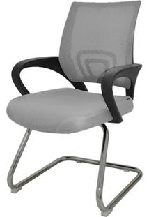 Cadeira Office Santiago Fixa Em Nylon Cinza - 27691 - Sun House