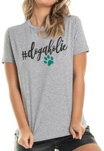 Camiseta Dogaholics Buddies Feminina - Feminino-Mescla