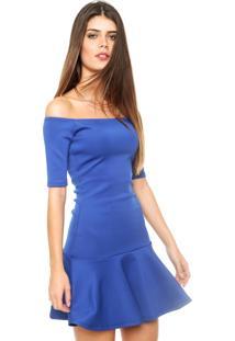 Vestido Ciganinha Sommer Curto Sino Azul