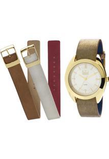 95844563329 Relógio Dumont Feminino Analógico - Feminino-Dourado