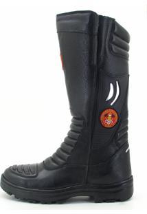 Bota Atron Shoes Bombeiro Preto