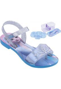 Sandália Infantil Grendene Frozen Magic Snow (Com Brinde)