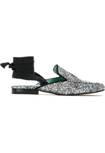 Blue Bird Shoes Slipper De Glitter - Prateado