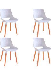 Kit 4 Cadeiras Decorativas Para Salas E Cozinhas Livclean (Pp) Branco - Gran Belo - Branco - Dafiti