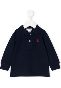 Ralph Lauren Kids Camisa Polo Com Logo Bordado - Azul