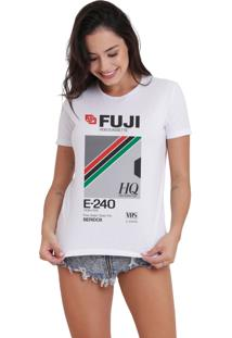 Camiseta Jay Jay Bã¡Sica Fuji Branca Dtg - Branco - Feminino - Dafiti