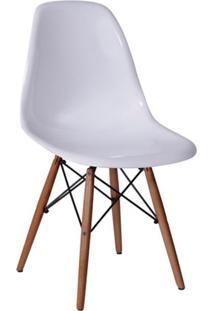 Cadeira Eames Base Madeira Escura E Branca