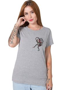 Camiseta Vintage Joker Cinza Stoned