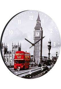 Relógio De Parede Londres Cinza